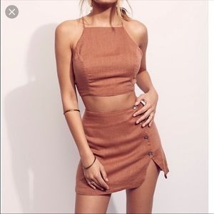 Free people skirt set